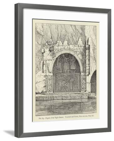 Facade of the Tagh-I-Bostan--Framed Giclee Print