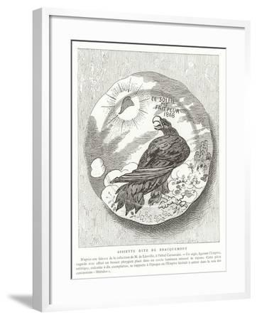 French Satirical Plate, 1868--Framed Giclee Print