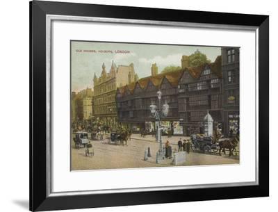 Old Houses, Holborn, London--Framed Photographic Print
