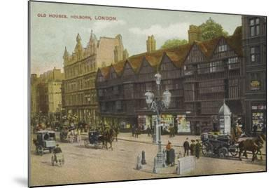 Old Houses, Holborn, London--Mounted Photographic Print