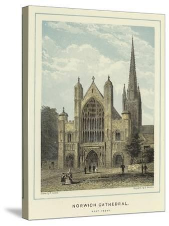 Norwich Cathedral, West Front--Stretched Canvas Print