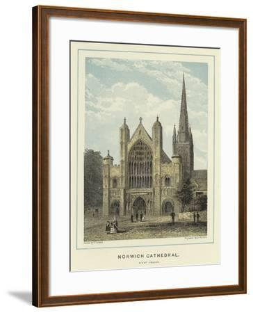 Norwich Cathedral, West Front--Framed Giclee Print