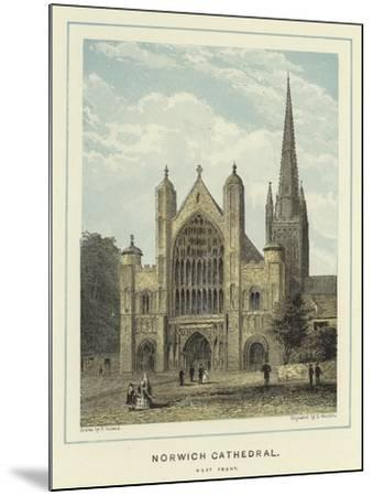 Norwich Cathedral, West Front--Mounted Giclee Print