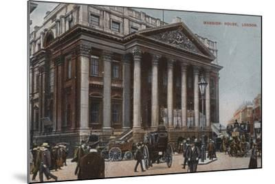 Mansion-House, London--Mounted Photographic Print