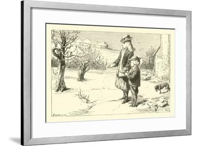 When the Snow Is on the Ground--Framed Giclee Print