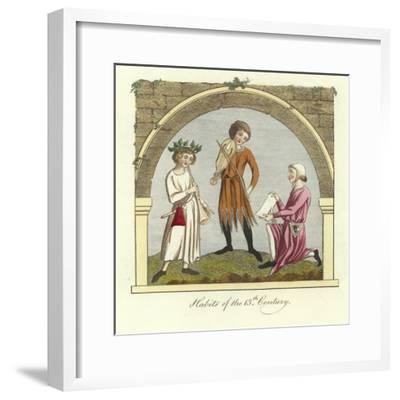 Habits of the 13th Century--Framed Giclee Print