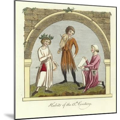 Habits of the 13th Century--Mounted Giclee Print