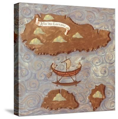 Island of Thieves-Antonio Pigafetta-Stretched Canvas Print