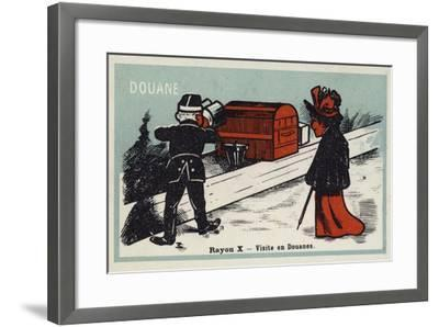 X Rays - a Visit to Customs--Framed Giclee Print