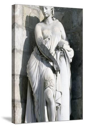 Statue from Palace of Fontainebleau--Stretched Canvas Print