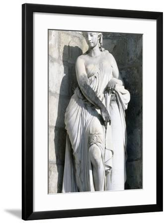 Statue from Palace of Fontainebleau--Framed Photographic Print