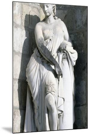 Statue from Palace of Fontainebleau--Mounted Photographic Print