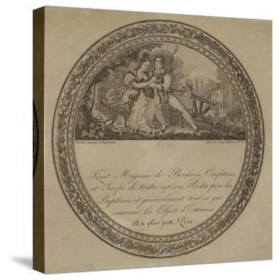 Product Label for a French Sweetshop--Stretched Canvas Print