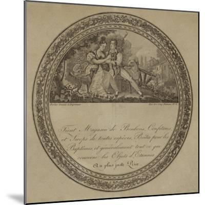Product Label for a French Sweetshop--Mounted Giclee Print
