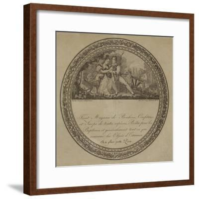 Product Label for a French Sweetshop--Framed Giclee Print