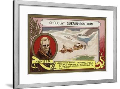 Fridtjof Nansen, Norwegian Arctic Explorer-French School-Framed Giclee Print