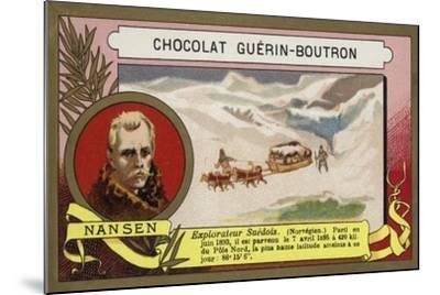 Fridtjof Nansen, Norwegian Arctic Explorer-French School-Mounted Giclee Print