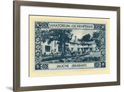 De Hemptinne Sanatorium, Jauche, Brabant, Belgium--Framed Giclee Print