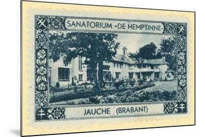 De Hemptinne Sanatorium, Jauche, Brabant, Belgium--Mounted Giclee Print