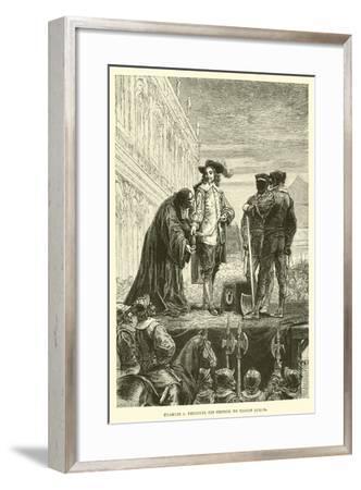 Charles I Delivers His George to Bishop Juxon--Framed Giclee Print