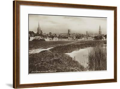 Stamford, Lincolnshire, from the Meadows--Framed Photographic Print