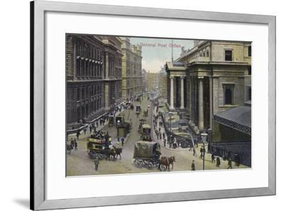 General Post Office, London--Framed Photographic Print