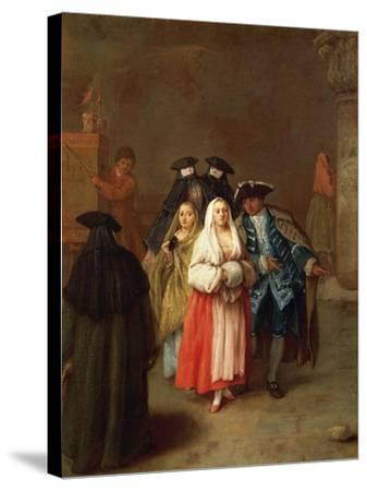 The New World-Pietro Longhi-Stretched Canvas Print