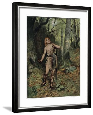 Then in the Silence a Bird Sang to Him-Ferdinand Lecke-Framed Giclee Print