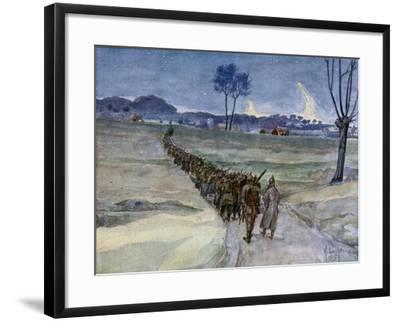 Replacements Arriving for the Trenches, Ypres--Framed Giclee Print