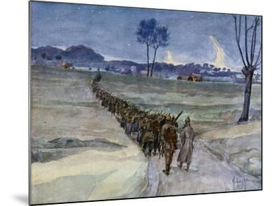 Replacements Arriving for the Trenches, Ypres--Mounted Giclee Print