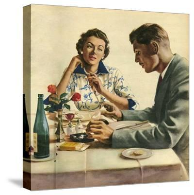 Illustration from 'John Bull', 1950S--Stretched Canvas Print