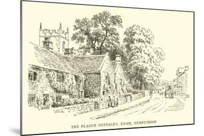 The Plague Cottages, Eyam, Derbyshire-Alfred Robert Quinton-Mounted Giclee Print