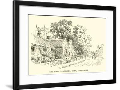 The Plague Cottages, Eyam, Derbyshire-Alfred Robert Quinton-Framed Giclee Print