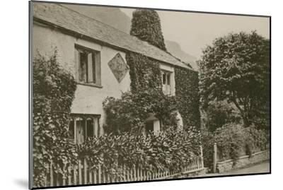 Hartley Coleridge's Cottage, Grasmere--Mounted Photographic Print