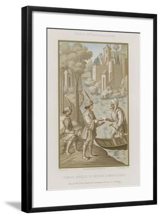 Leander Sends a Message of Love to Hero--Framed Giclee Print