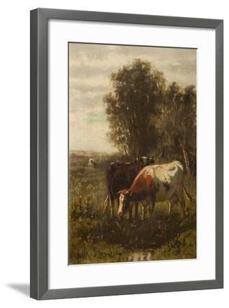 Two Cows in a Landscape-William Frederick Hulk-Framed Giclee Print