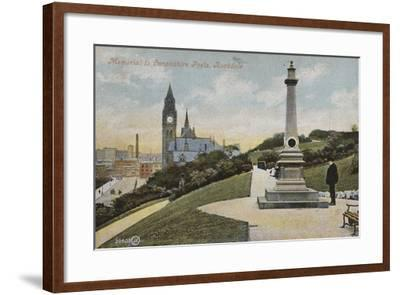 Memorial to Lancashire Poets, Rochdale--Framed Photographic Print