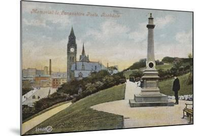 Memorial to Lancashire Poets, Rochdale--Mounted Photographic Print