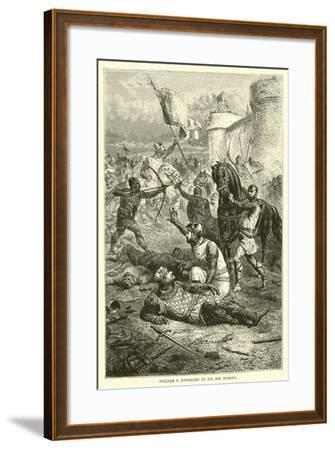 William I Unhorsed by His Son Robert--Framed Giclee Print