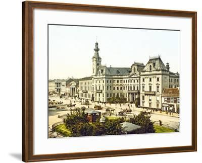 Warsaw Town Hall, 1890-1900--Framed Photographic Print
