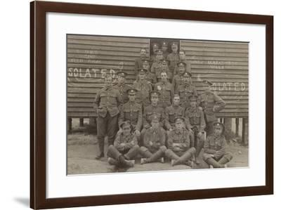 British Soldiers in Front of a Barracks--Framed Photographic Print