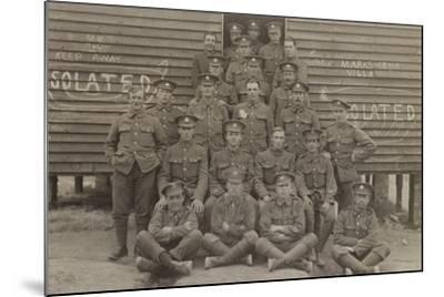 British Soldiers in Front of a Barracks--Mounted Photographic Print