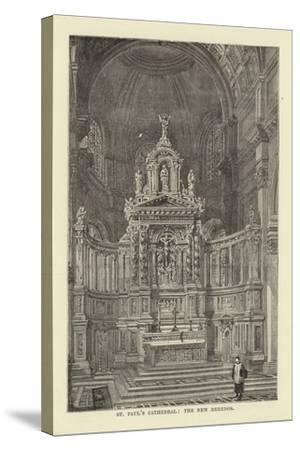 St Paul's Cathedral, the New Reredos--Stretched Canvas Print
