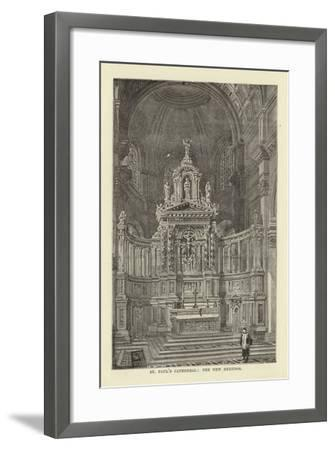 St Paul's Cathedral, the New Reredos--Framed Giclee Print