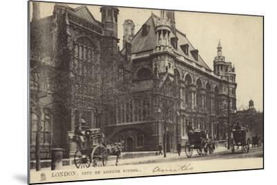 London, City of London School--Mounted Photographic Print