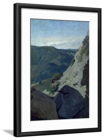 View of Mountains-Stefano Bruzzi-Framed Giclee Print