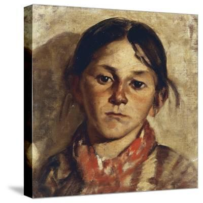 Head of Girl-Giulio Musso-Stretched Canvas Print