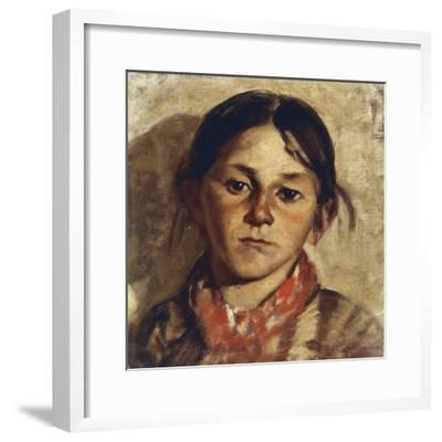 Head of Girl-Giulio Musso-Framed Giclee Print