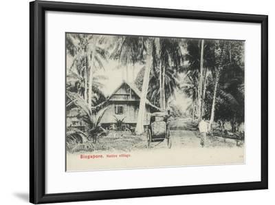 Native Village, Singapore--Framed Photographic Print