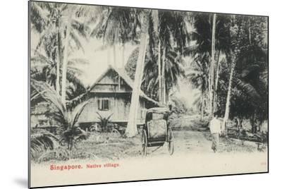 Native Village, Singapore--Mounted Photographic Print